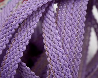 Stripe purple wire Gold 1.4 cm x 1 m