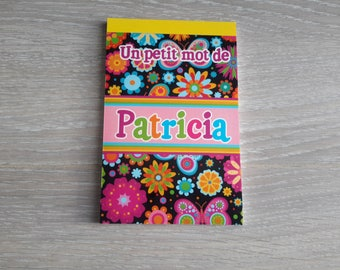 small notebook to patricia name
