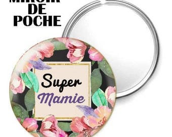 Mirror - badge - 56mm - Super Grandma