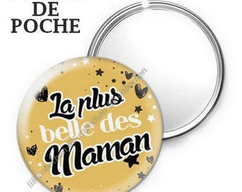 Mirror - badge - 56mm - the most beautiful moms