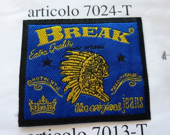 patch applique Indian patch for customisation garment style western cowboy country sewing craft or sewing