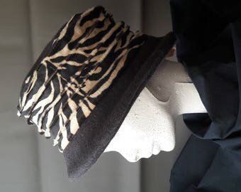 chocolate Zebra Hat