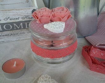 Glass jar with scented candles