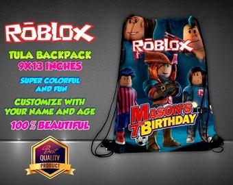 Roblox Personalized Drawstring Backpack - Kids Personalized Gift Handbag Backpack Bag Canvas Handbag Hip Bag Handbag