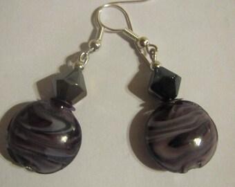 Dangling earrings black fashionable