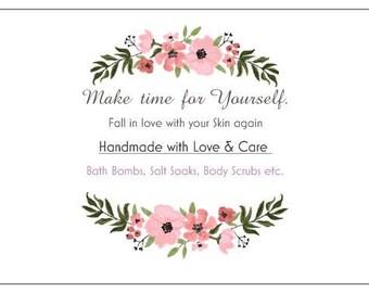 Handmade with Love & Care Bath Essentials