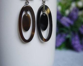 Buffalo Horn Earrings Horn Earrings Horn Jewelry Horn Accessories TA 26022