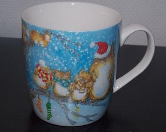 Porcelain - Christmas OWL mug