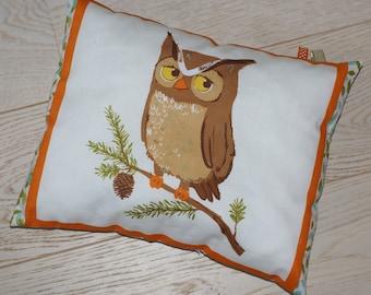 OWL pillow OWL autumn forest