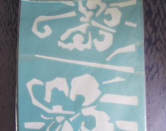 great stencil - stencil depicting butterflies - 22 cm X 67 cm