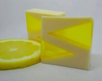 Honey and lemon soap - Glycerin soap - Ecological soap - Natural soap - Facial soap - Moisturizing soap - Sensitive skin soap- SLS free soap