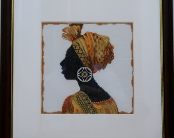 African embroidery picture