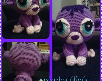 Cute Purple Monkey with big eyes