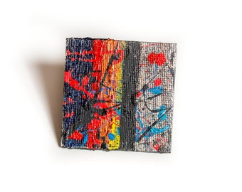 Abstract: 18 Brooch. Geometric Abstraction to Go! One-of-a-kind.