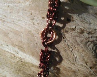 Narrow King's Chain Bracelet - Two-tone Copper