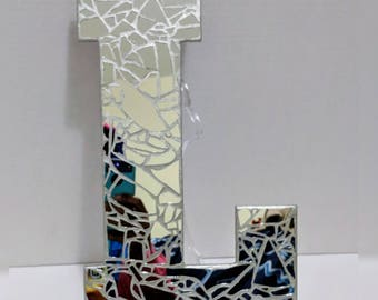 Shattered By Natalie 13 Inch Broken Mirror Letters