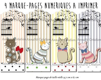 "4 digital bookmarks ""cat then..."""