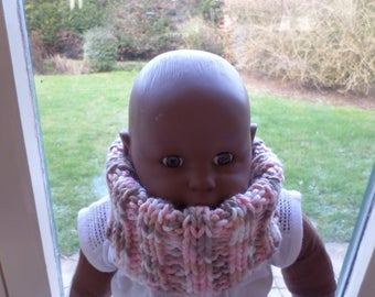 knitted with very soft and very warm wool snood