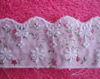 coupon lace Anglaise pretty flowers, 2 m