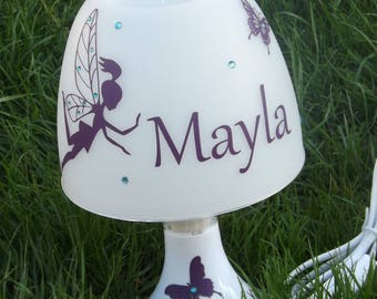 Personalized Butterfly Fairy lamp