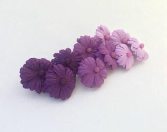 Purple Flower Push Pins Ombré || Set of 10, 15, 20
