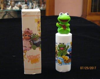 Avon Muppet Babies Bubble Bath with Baby Kermit Finger Puppet