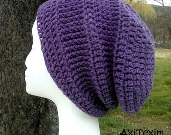 """Hat """"slouch"""" color purple"""