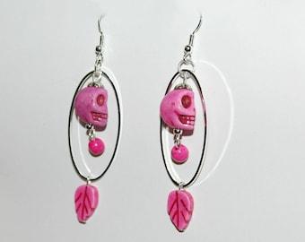 Earrings - pink Indian Spirit