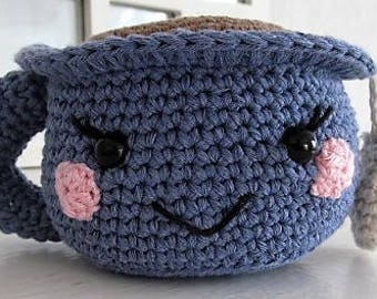 Hand-made crochet amigurumi Tea Cup