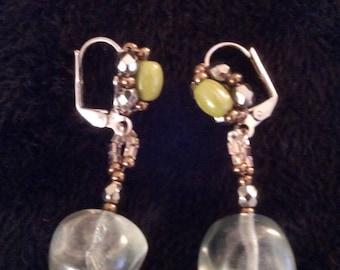 Pierced with glass beads earrings