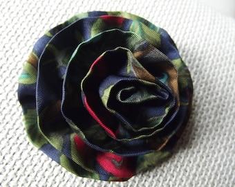 pretty flower brooch made of real silk