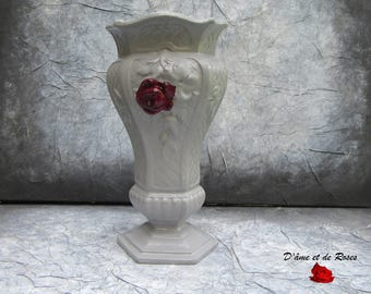 Vase make it gray and pink plum