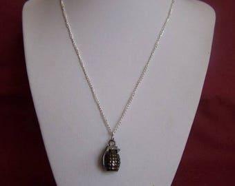 Necklace pendant men grenade
