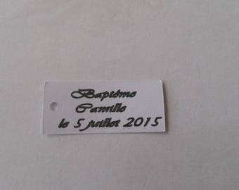 Rectangle tags for favors or decoration bag