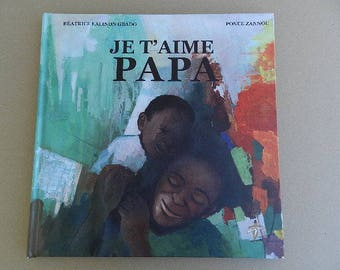 """Book """"I love you Dad"""" poem in honor of fathers and African art gift"""