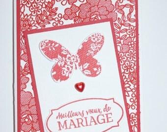 Greeting card - wedding - handmade