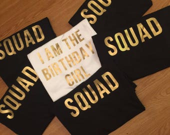 Birthday Girl Shirts/ Birthday Shirts/ Birthday Squad Shirts