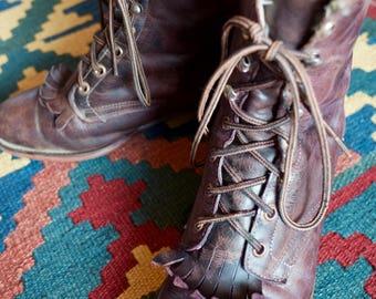 LAREDO Vintage Granny Grunge Boots Size UK 7