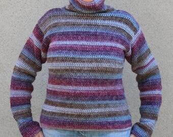 Very soft heathered Wool Turtleneck Sweater