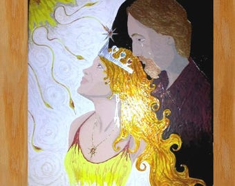 """Queen in the Light - 16"""" X 20"""" - acrylic on canvas - by: Cringle"""