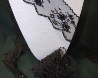 2.90 m Black Lace with sequins