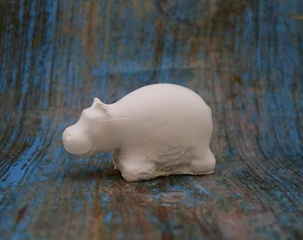 ready to paint simple baby hippo