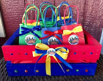 Decorative Wood Crate, Party Favors Crate, Baby Shower Favors Crate, Custom Wood Crate