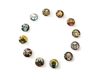 Cabochons glass Halloween 6 x 12mm