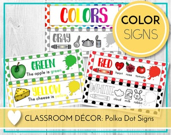 Color Signs, Colour Signs, Teaching Colors, Learning Colours, Preschool & Kindergarten, Teaching Education Resource Kids Activities