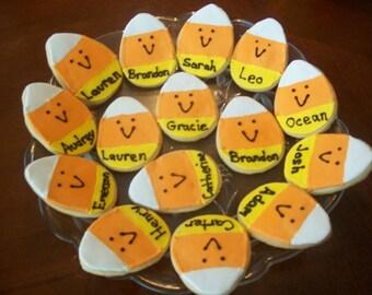 Halloween Cookies, Candy Corn Cookies, Halloween Cookie Favors