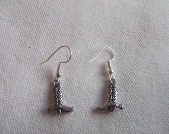 Cowboy boots earrings