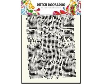 Stenciled Dutch Doobadoo Mask fabric Burlap - A5 New Stencil Art