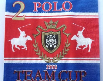 20 napkins POLO TEAM CUP REF.   3444