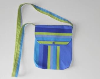 1 striped fabric shoulder bag